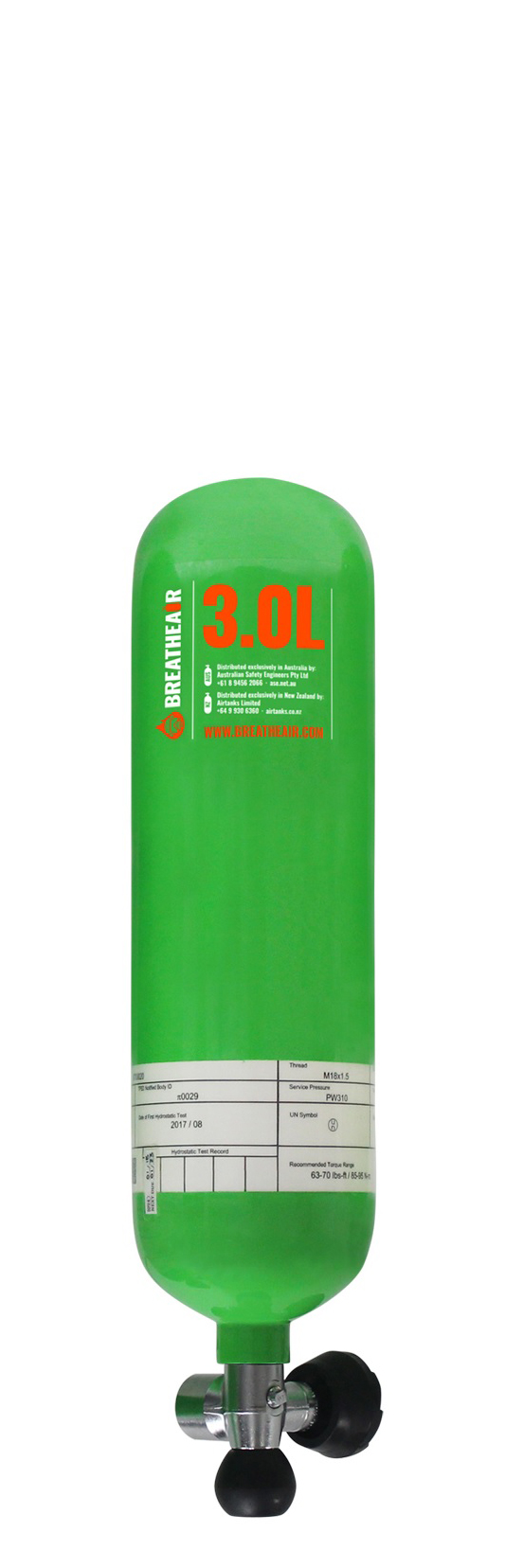 3L EEBD Cylinder with Valve